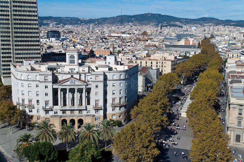Plaza à Rambla Del Mar, Barcelone photos libres de droits