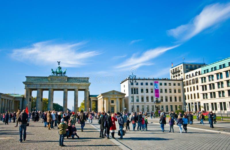 Plaza πυλών του Βραδεμβούργου, Βερολίνο στοκ φωτογραφίες με δικαίωμα ελεύθερης χρήσης