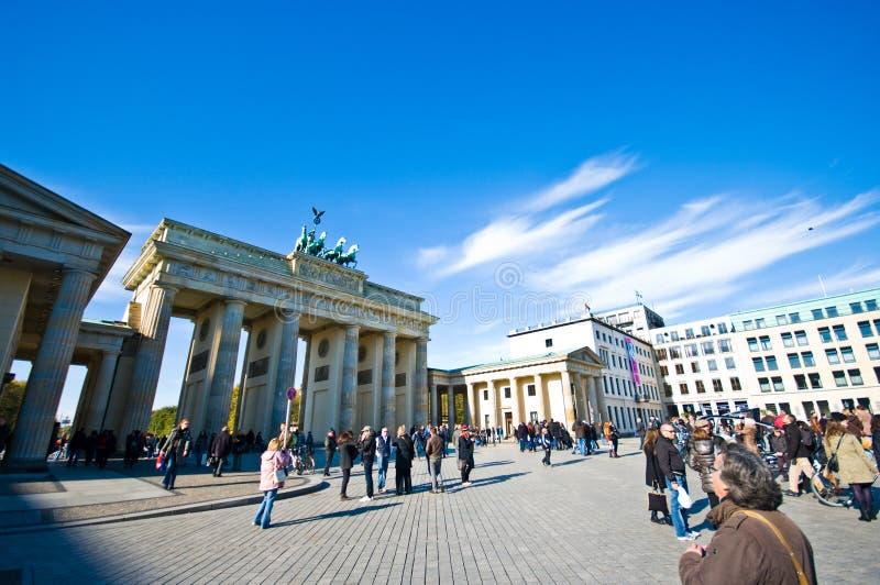 Plaza πυλών του Βραδεμβούργου, Βερολίνο στοκ εικόνες