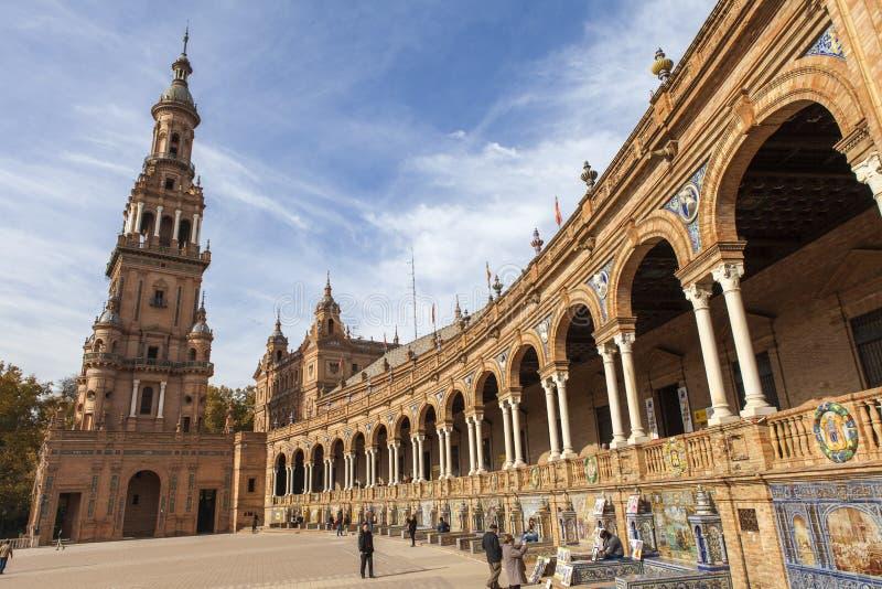 plaza Σεβίλλη Ισπανία de espana στοκ εικόνες με δικαίωμα ελεύθερης χρήσης