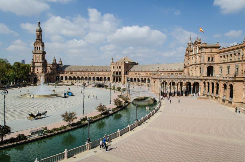 Plaza av Spanien, Seville royaltyfri foto