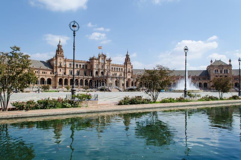 Plaza av Spanien, Seville royaltyfria foton
