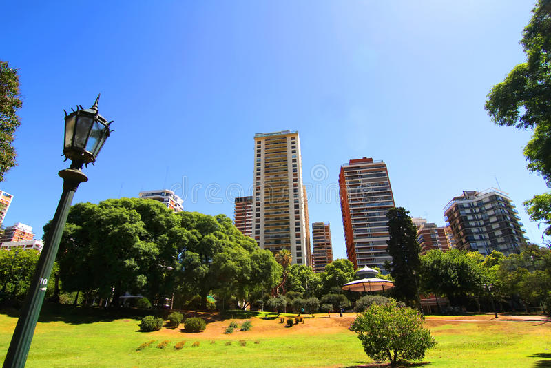 Plaza Barrancas de Belgrano i Buenos Aires arkivfoton