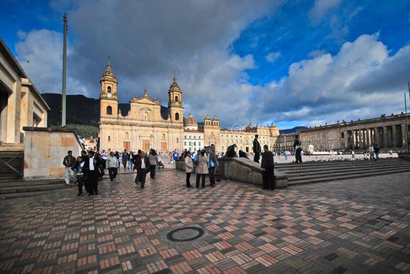 Plaza Bolivar - Bogotá imagem de stock