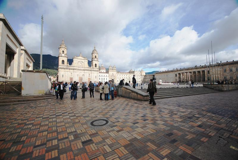 Plaza Bolivar - Bogota royalty free stock images