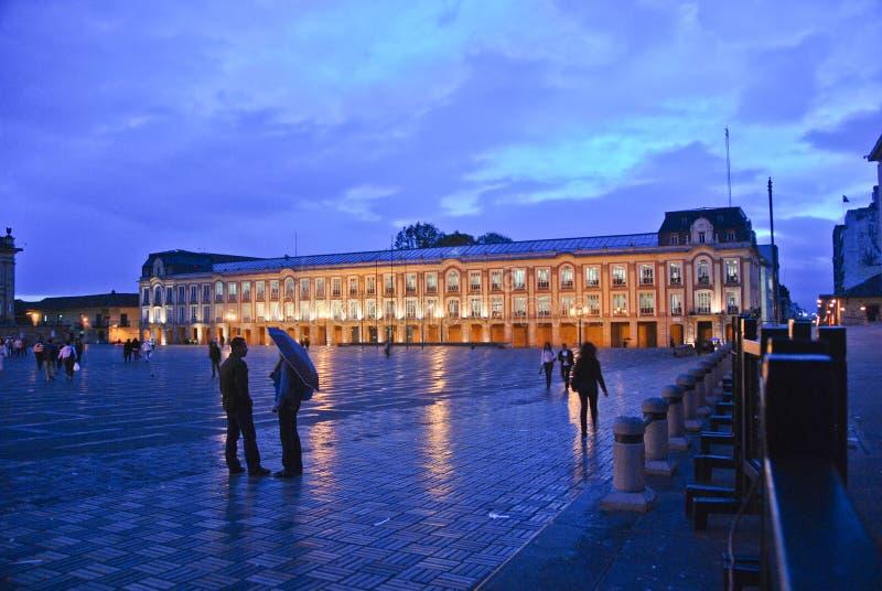 Plaza Bolivar at dusk stock images