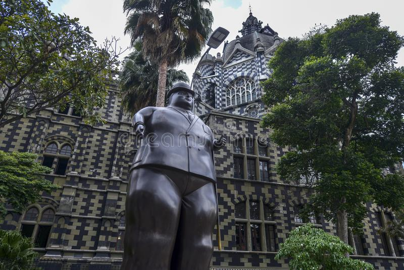 Plaza Botero em Medellin, Colômbia foto de stock royalty free