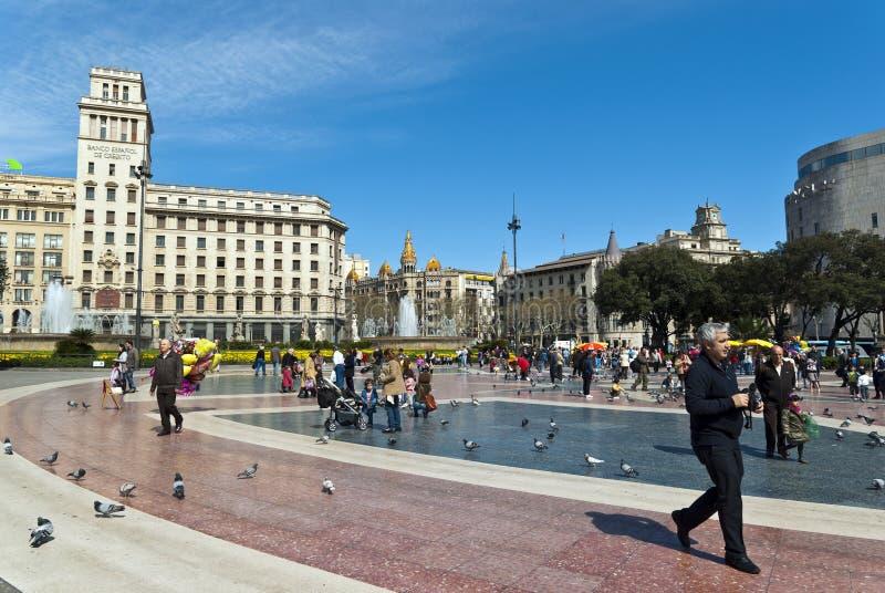 Plaza Catalunya royalty free stock photography
