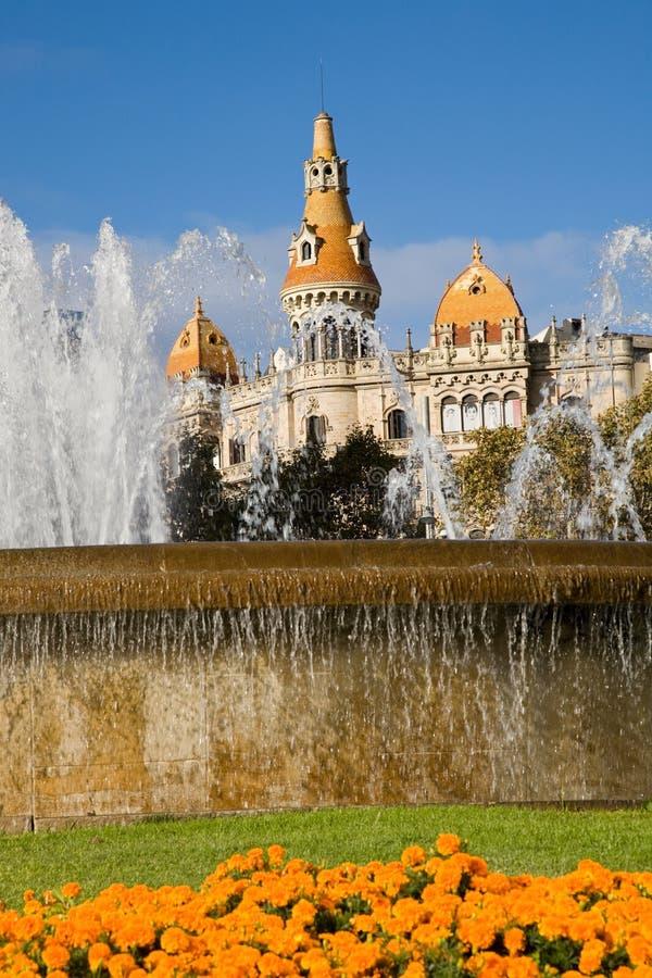 Plaza Catalunya, Barcelona royalty free stock photography