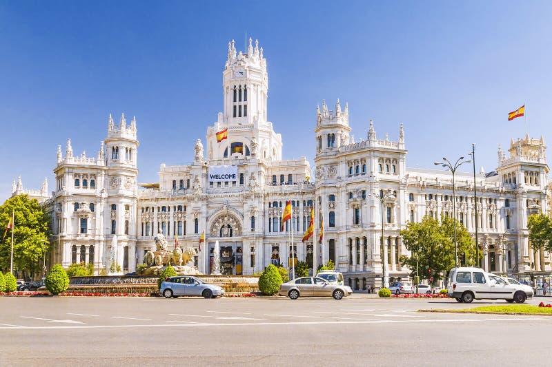 Plaza Cibeles no Madri, Espanha imagem de stock