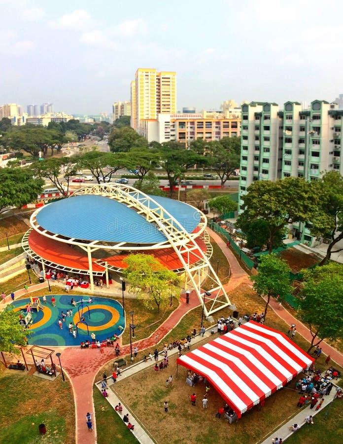 Plaza coberta, Toa Payoh, Singapura foto de stock