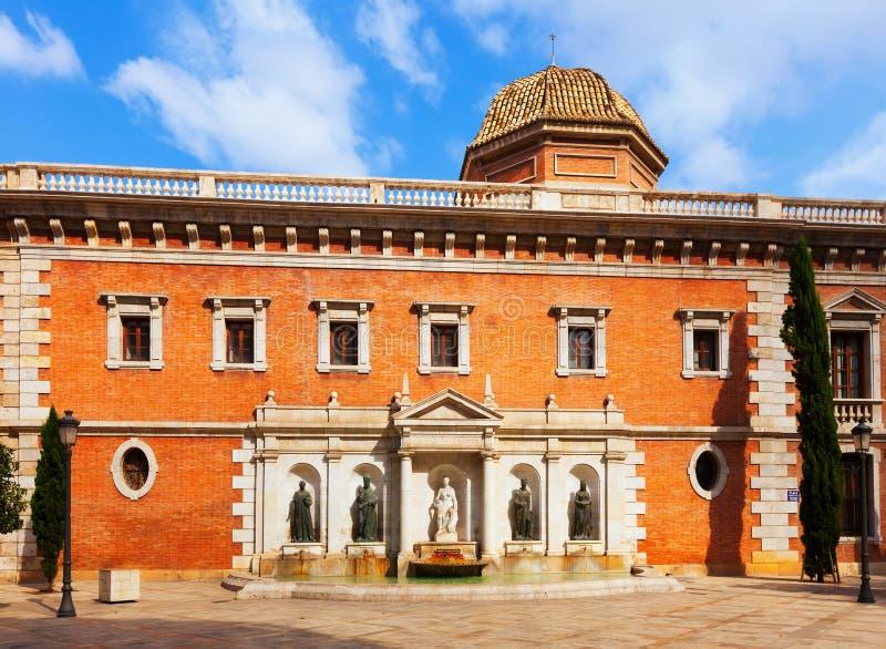 Plaza colegio del patriarca à Valence images stock