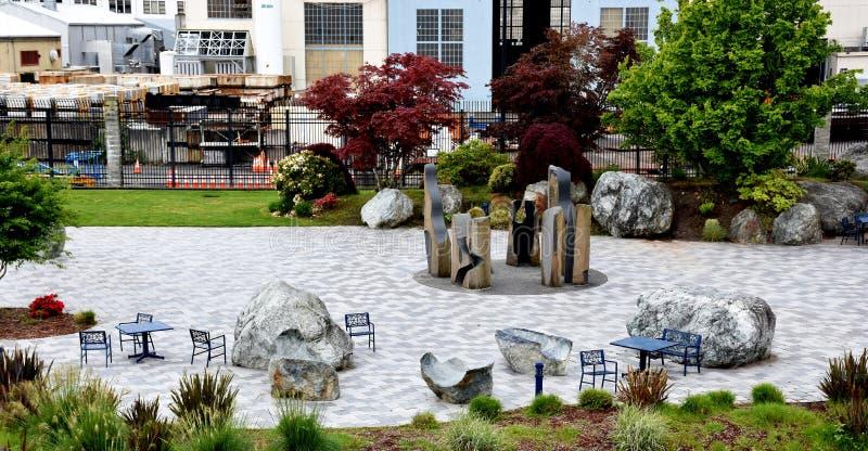 Plaza commémorative de chantier naval naval de Puget Sound, Bremerton images stock
