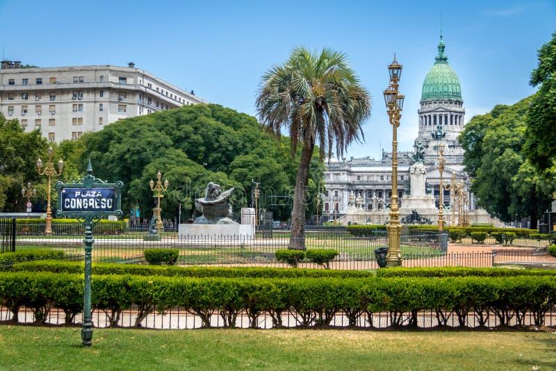 Plaza Congreso - Μπουένος Άιρες, Αργεντινή στοκ εικόνες
