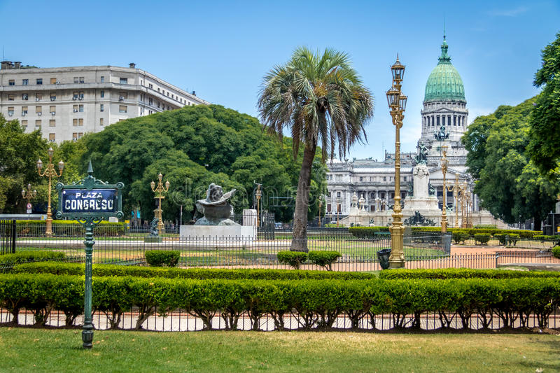 Plaza Congreso - Buenos Aires, Argentine images stock