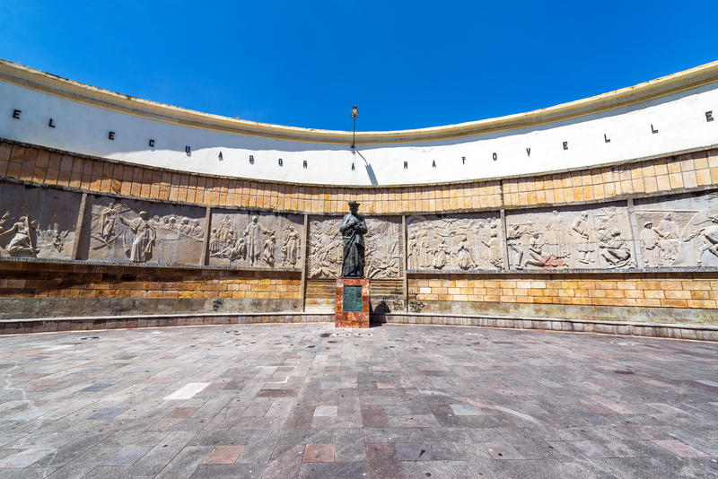 Plaza in Cuenca, Ecuador royalty free stock image
