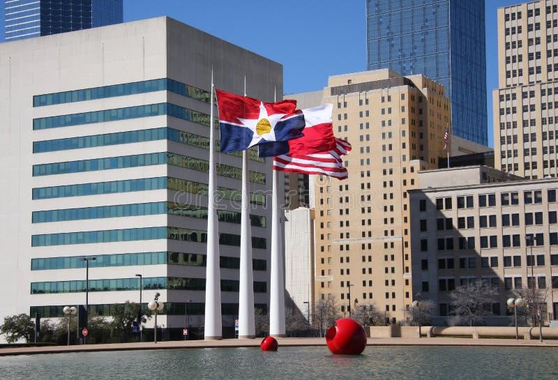 Plaza d'hôtel de ville de Dallas photos stock