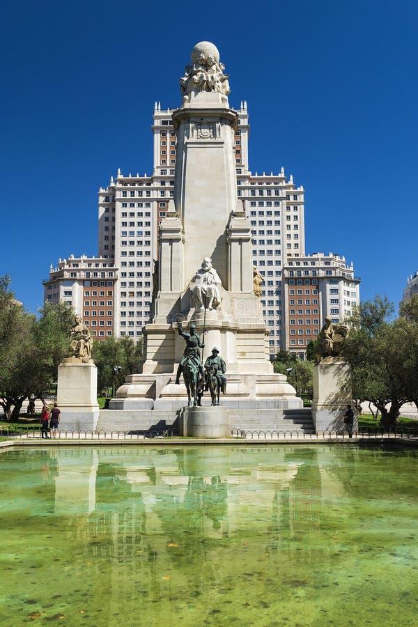 Plaza da Espanha no Madri, Espanha imagem de stock