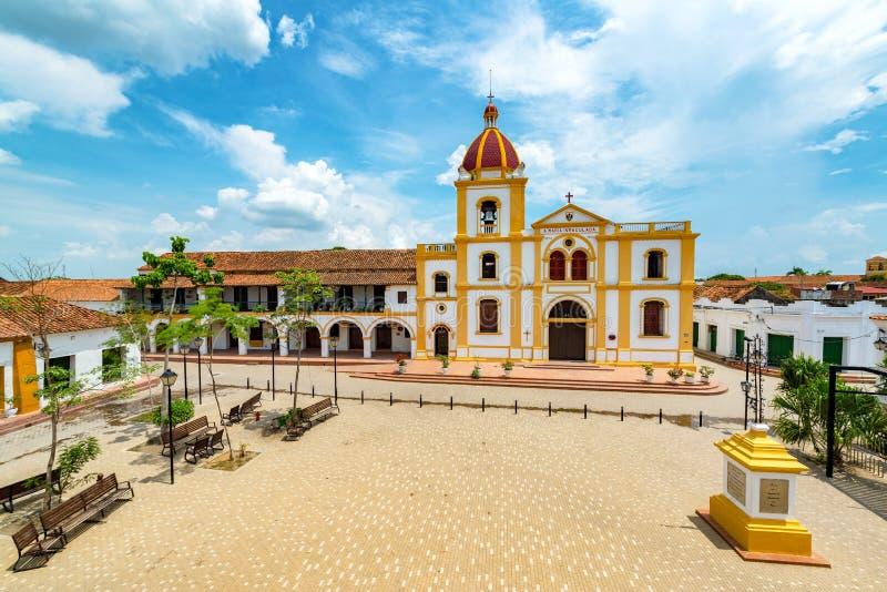 Plaza dans Mompox d'en haut photo libre de droits