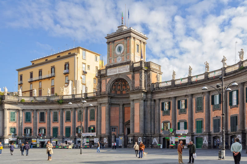 Plaza Dante - Napoli imagenes de archivo