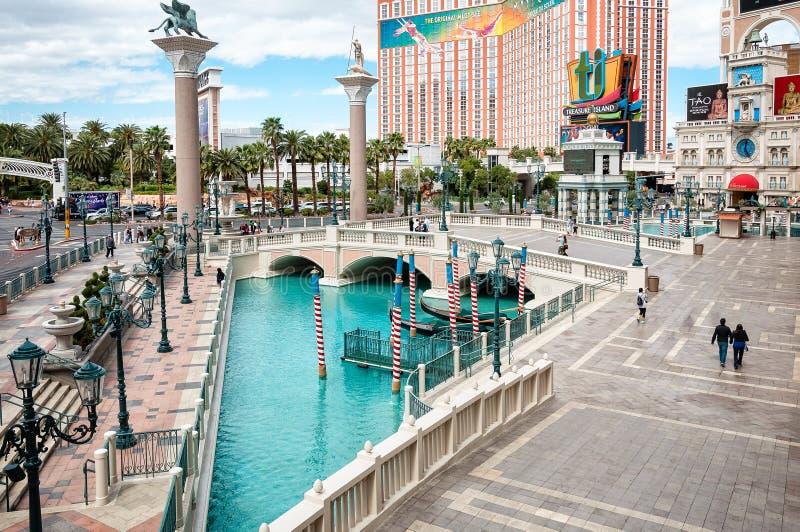 Plaza davanti a veneziano, Las Vegas immagini stock