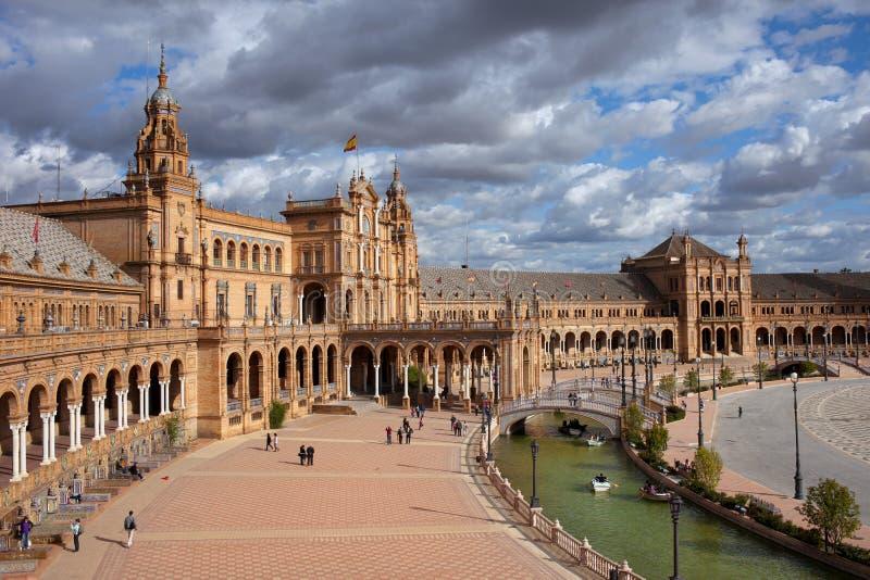 plaza de西班牙在塞维利亚 库存图片