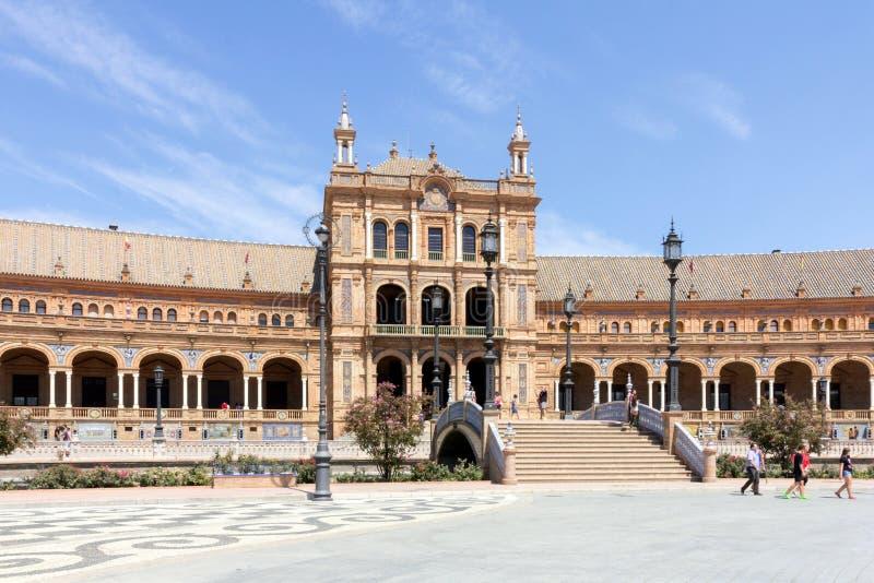 Plaza de西班牙,塞维利亚,安达卢西亚,西班牙 库存图片