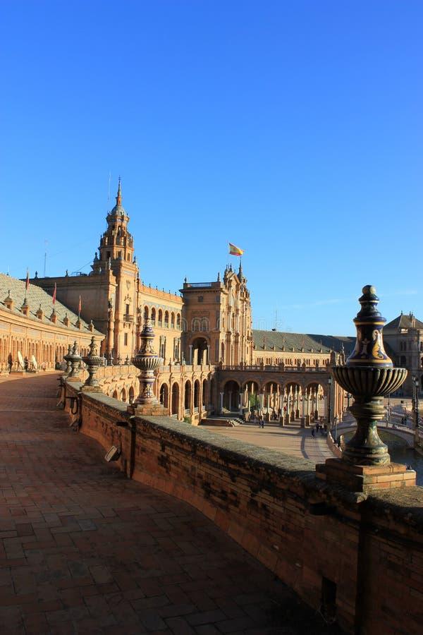 plaza de西班牙,塞维利亚 免版税库存图片