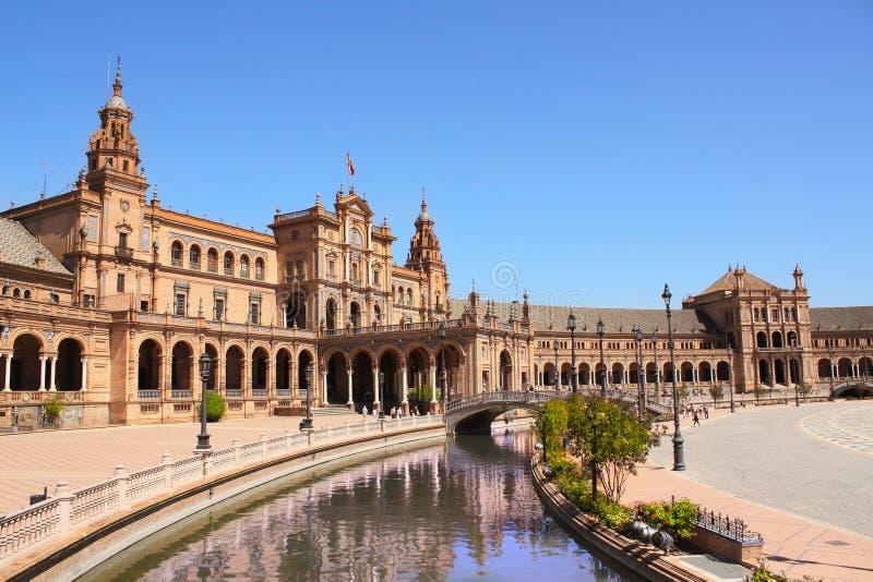 plaza de西班牙,塞维利亚 库存照片