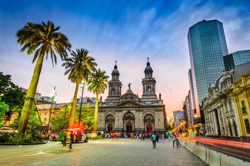 Plaza de阿玛斯,圣地亚哥de智利,智利 免版税库存图片