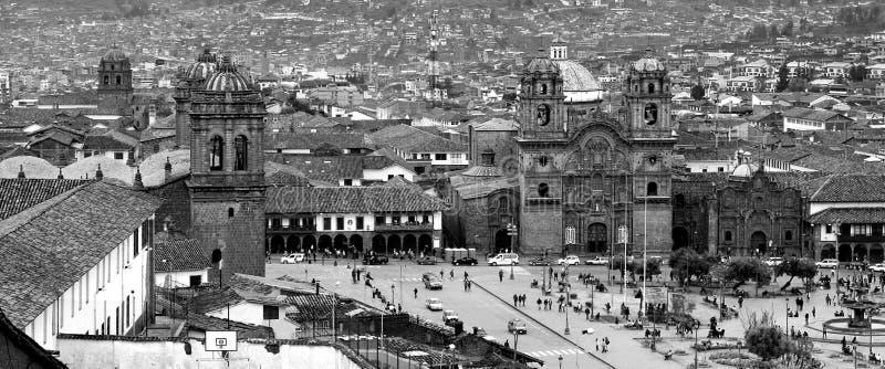 Plaza de阿玛斯-库斯科省- Perú 免版税库存图片