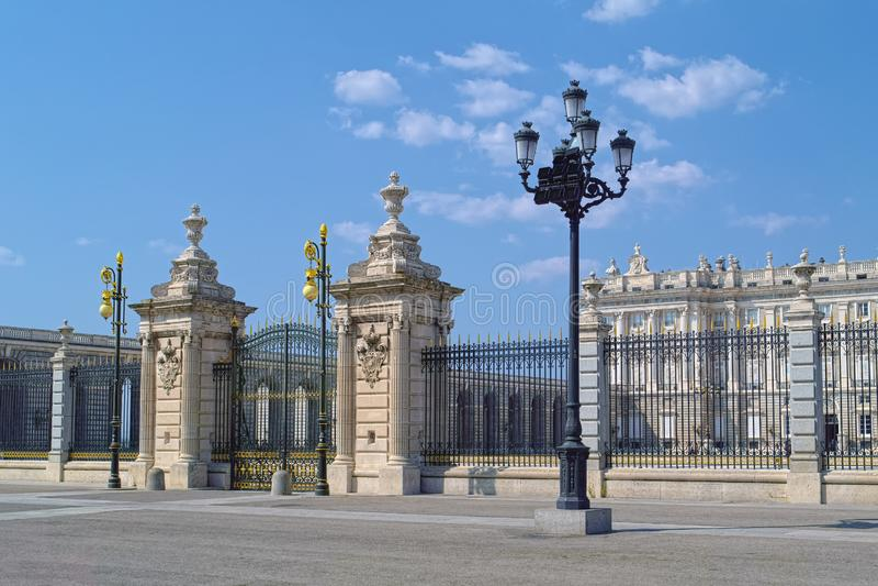 Plaza de Λα Armeria στη Μαδρίτη, Ισπανία στοκ εικόνα
