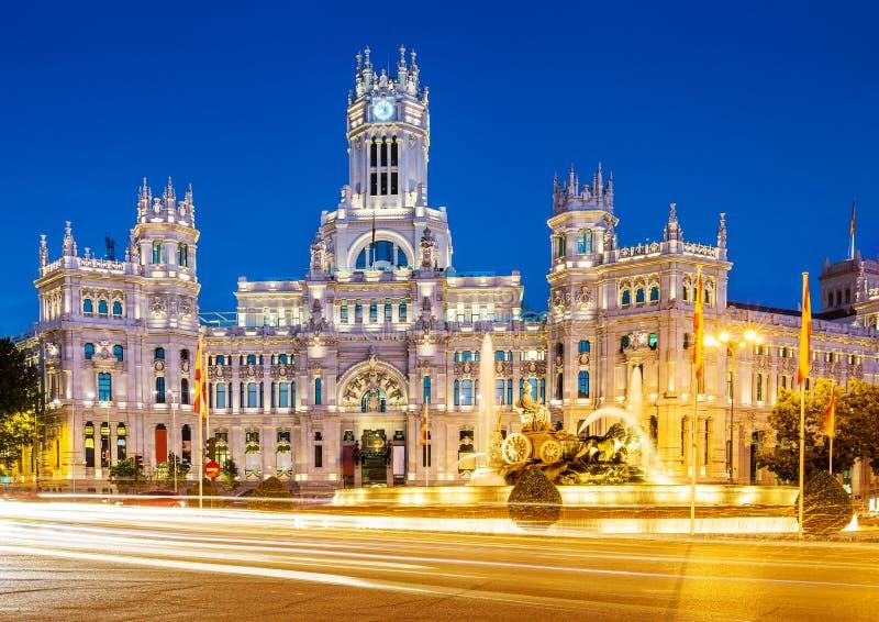 Plaza de Λα Cibeles Μαδρίτη στοκ εικόνα με δικαίωμα ελεύθερης χρήσης