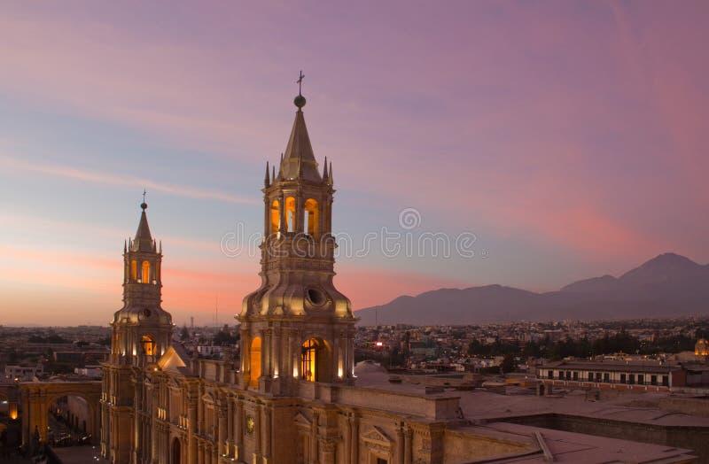 Plaza de Arequipa imagem de stock royalty free