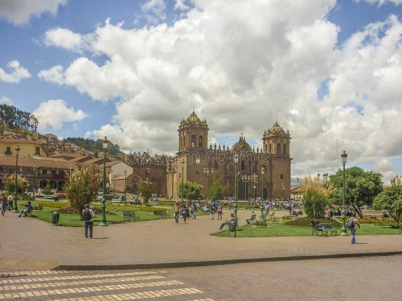 Plaza de Armas σε Cusco Περού στοκ εικόνα με δικαίωμα ελεύθερης χρήσης