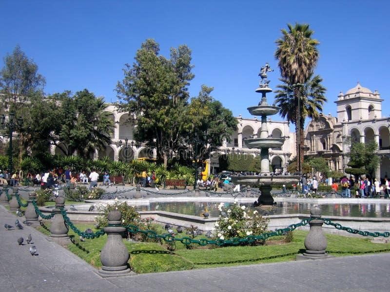 Plaza de Armas fotografia stock