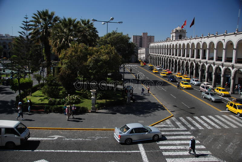 Plaza de Armas - Arequipa,Peru royalty free stock photography
