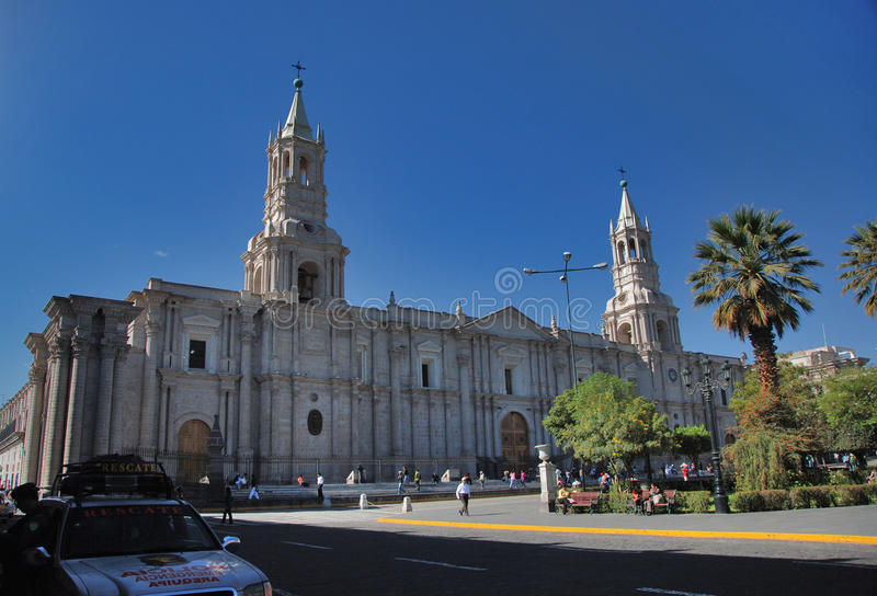 Plaza de Armas - Arequipa,Peru stock photos
