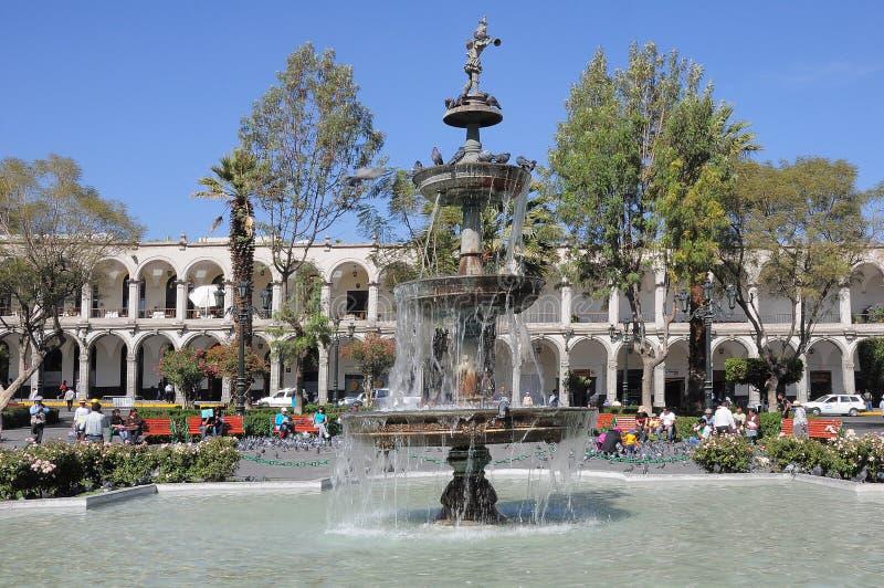 Plaza de Armas, Arequipa, Peru imagens de stock royalty free