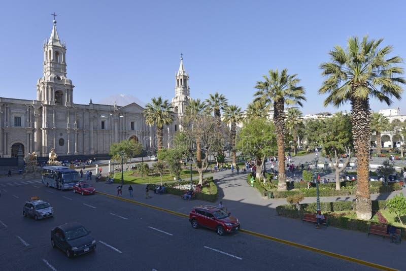 Plaza de Armas, Arequipa, Peru royaltyfri bild