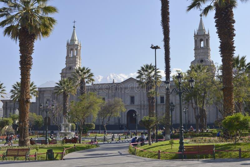 Plaza de Armas, Arequipa, Peru imagem de stock