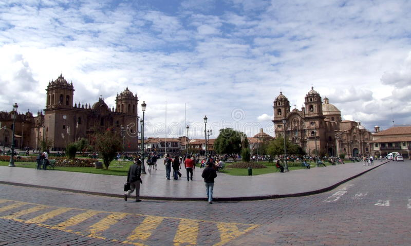 Plaza de Armas, Cusco, Peru stock photography
