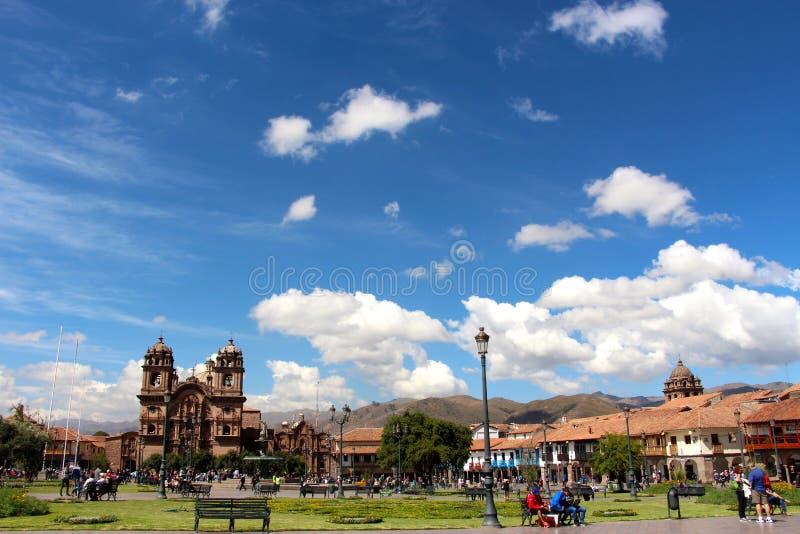 Plaza de Armas, Cuzco royaltyfri fotografi
