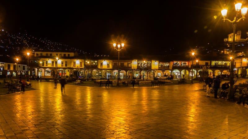 Plaza de armas - cuzco - Peru arkivbilder