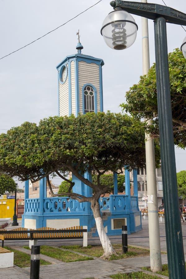 Plaza de armas em Cerro Azul, ete do Ca, Lima fotos de stock royalty free