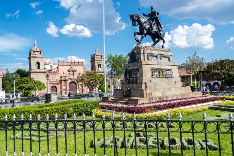 Plaza de Armas en Ayacucho, Perú foto de archivo