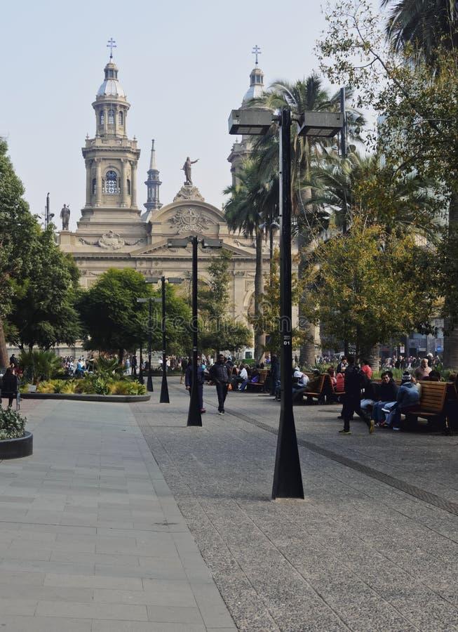 Plaza de Armas en Santiago de Chile fotos de archivo