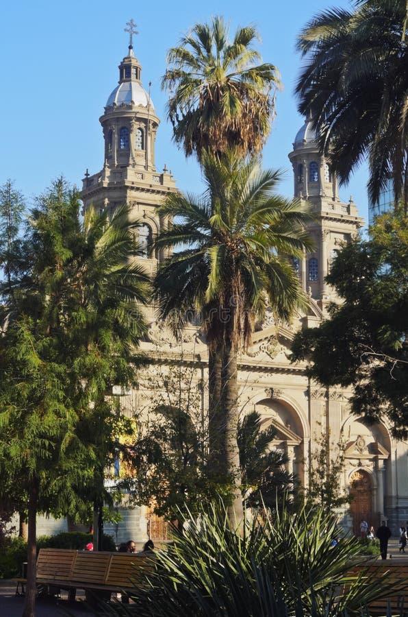 Plaza de Armas i Santiago de Chile royaltyfri bild