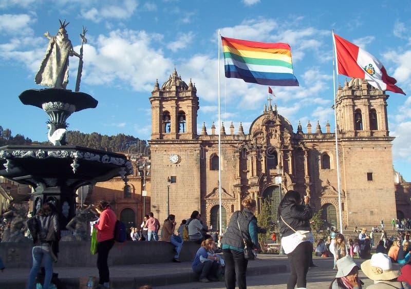 Plaza de Armas de la ville de Cuzco, Pérou photos libres de droits