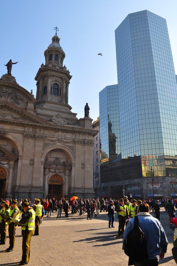 Plaza de Armas Main Square, Santiago de Chile royaltyfria bilder